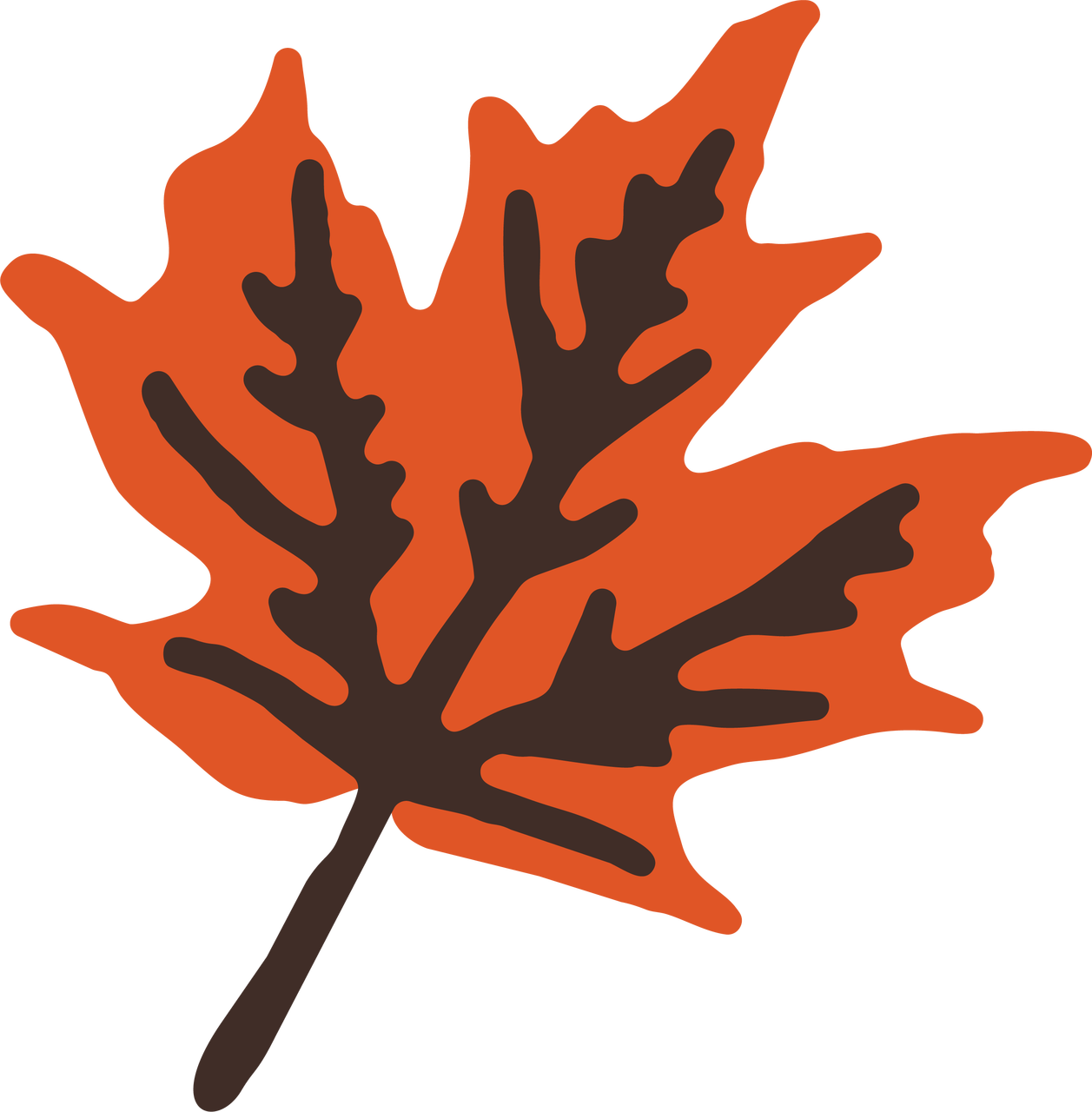 Fall Break Leaf #2 SVG Cut File
