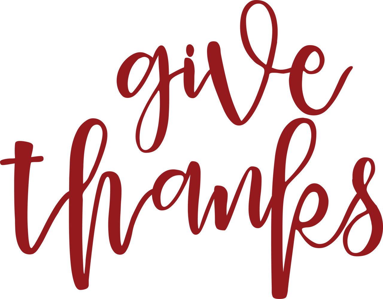 Give Thanks #2 SVG Cut File