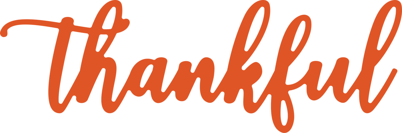 Thankful Word SVG Cut File