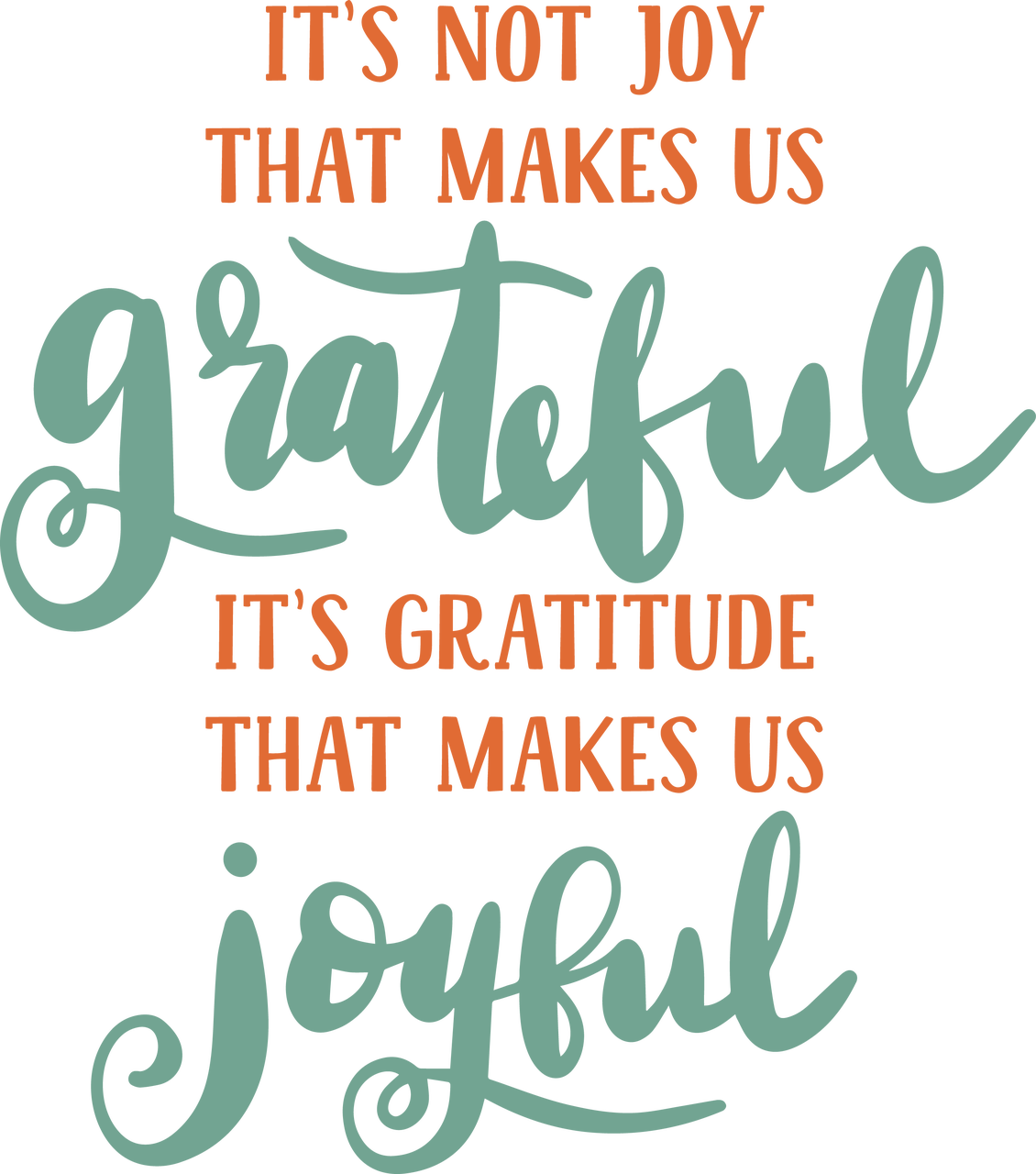 It's Not Joy That Makes Us Grateful SVG Cut File