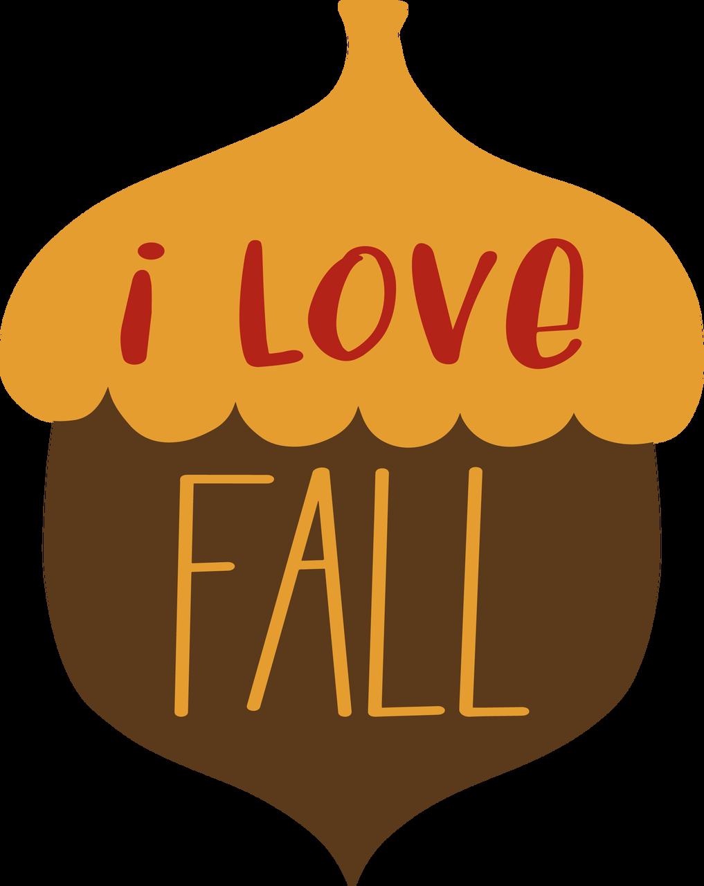 I Love Fall Acorn SVG Cut File