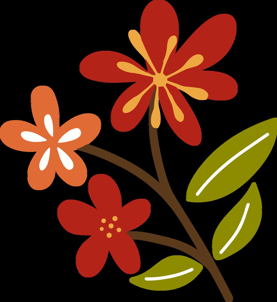 Autumn Flower #4 SVG Cut File