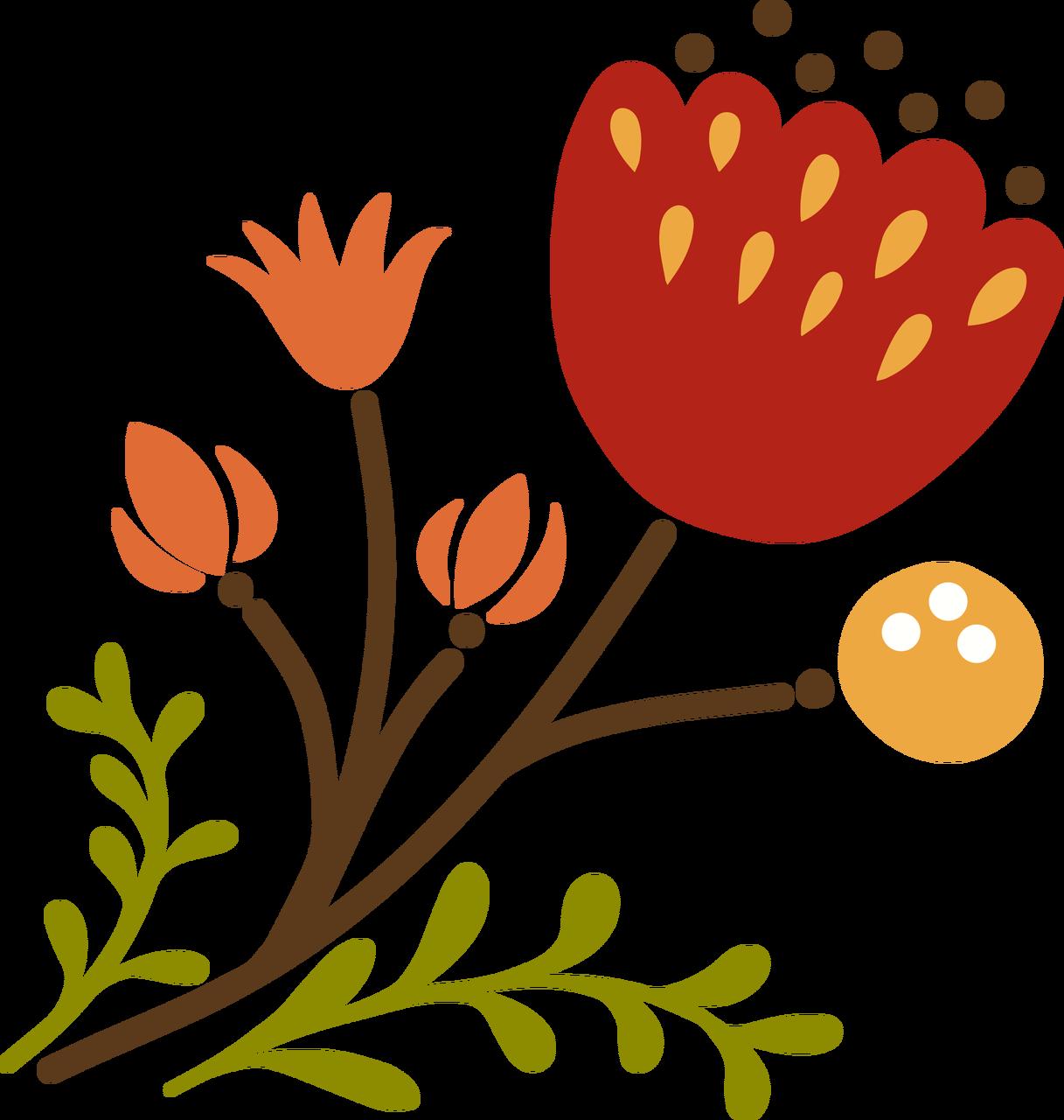 Autumn Flower #5 SVG Cut File