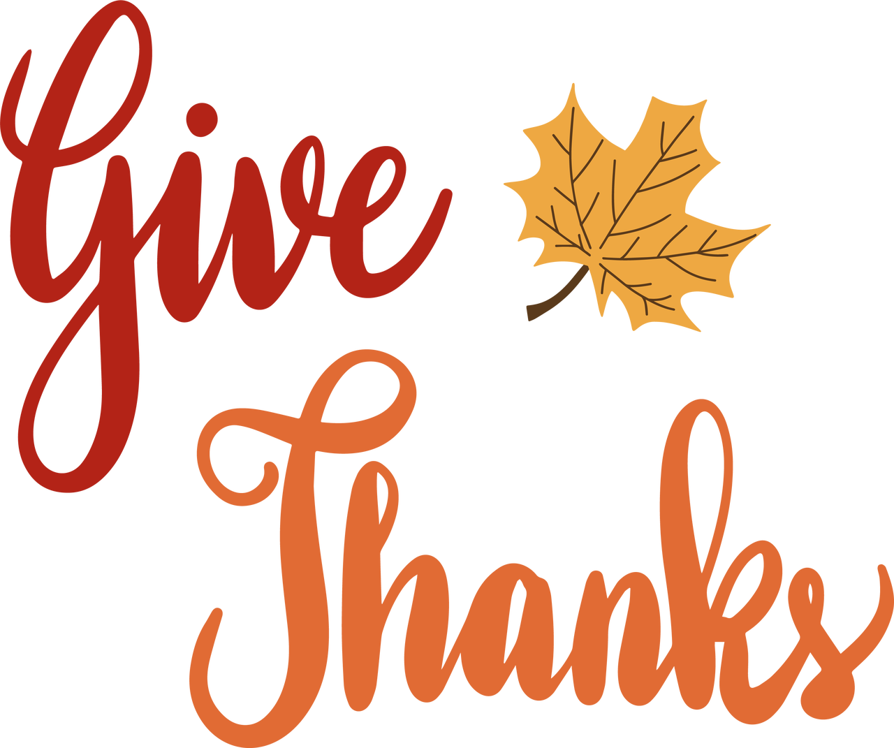 Give Thanks #3 SVG Cut File