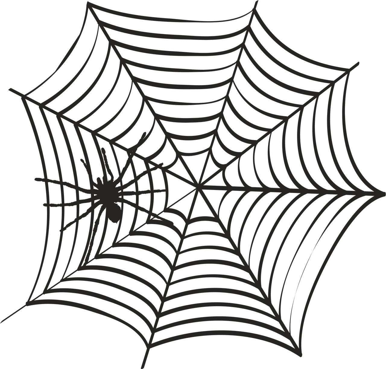 Spider Web #3 SVG Cut File