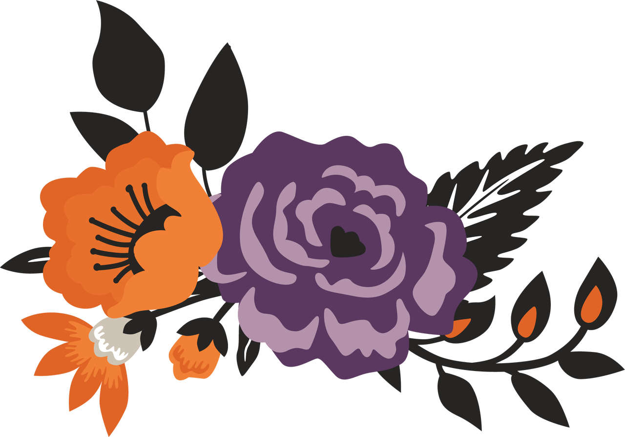 Halloween Flower Bunch #2 Print & Cut File