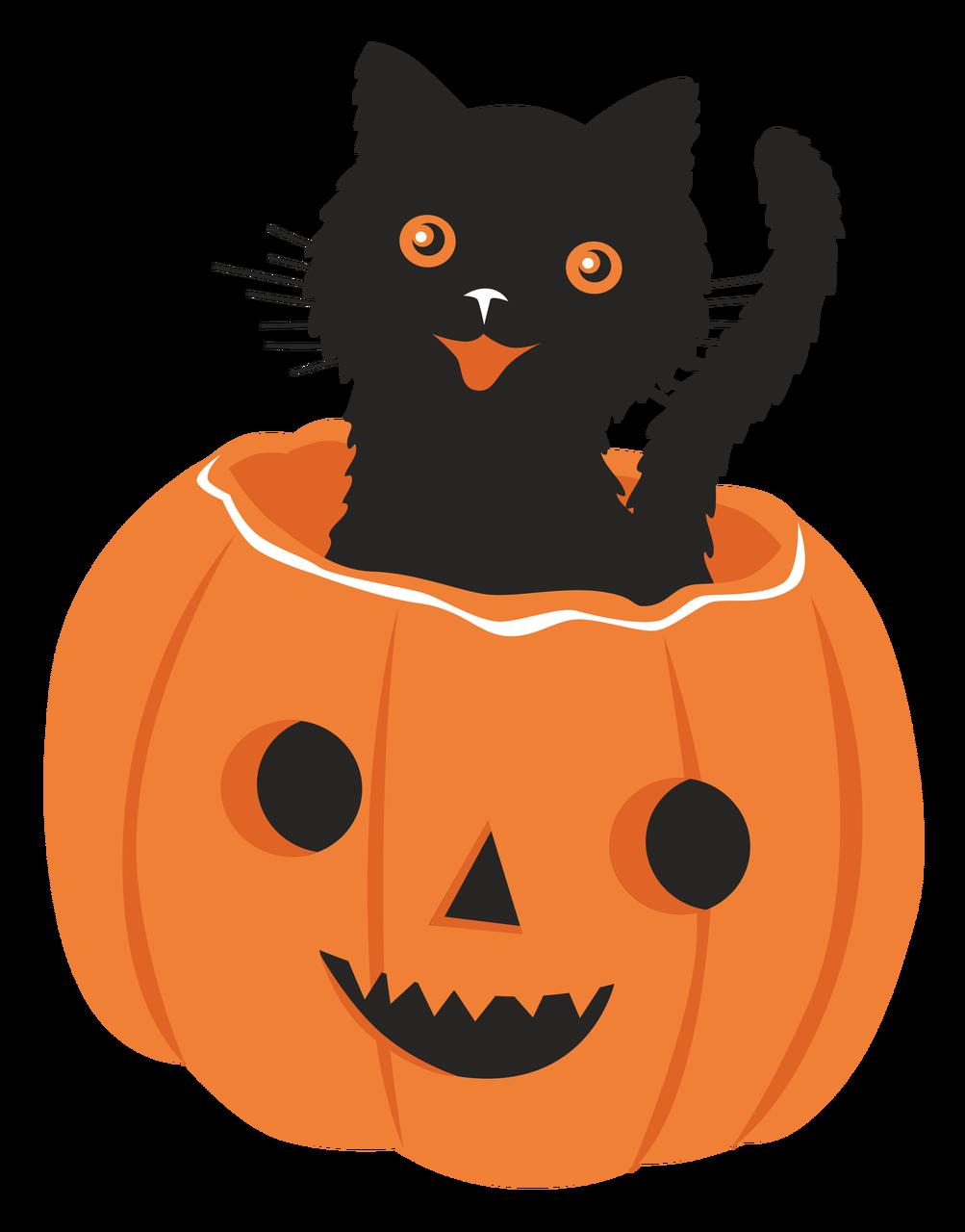 Cat In Pumpkin Print & Cut File