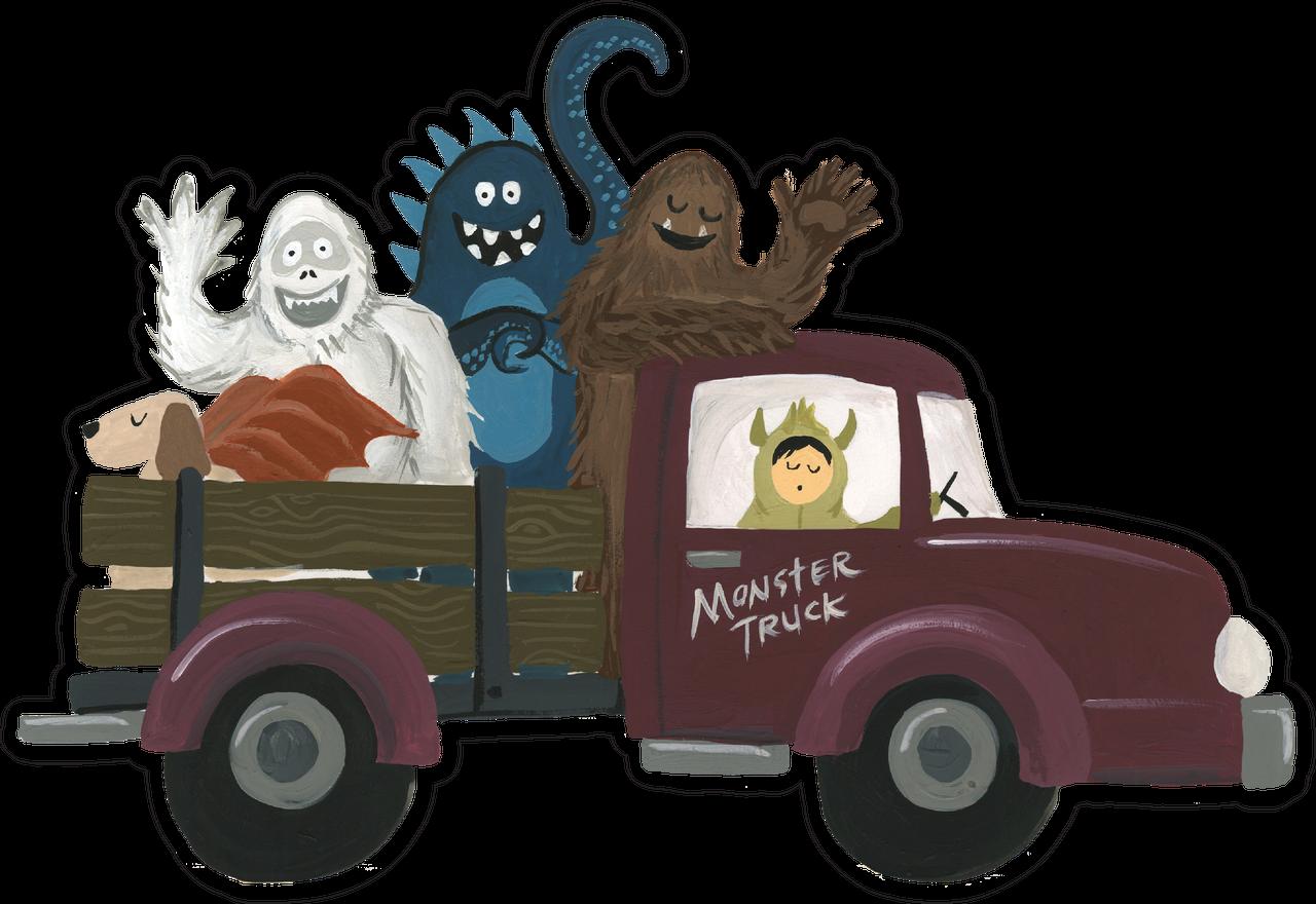 Monster Truck Print & Cut File