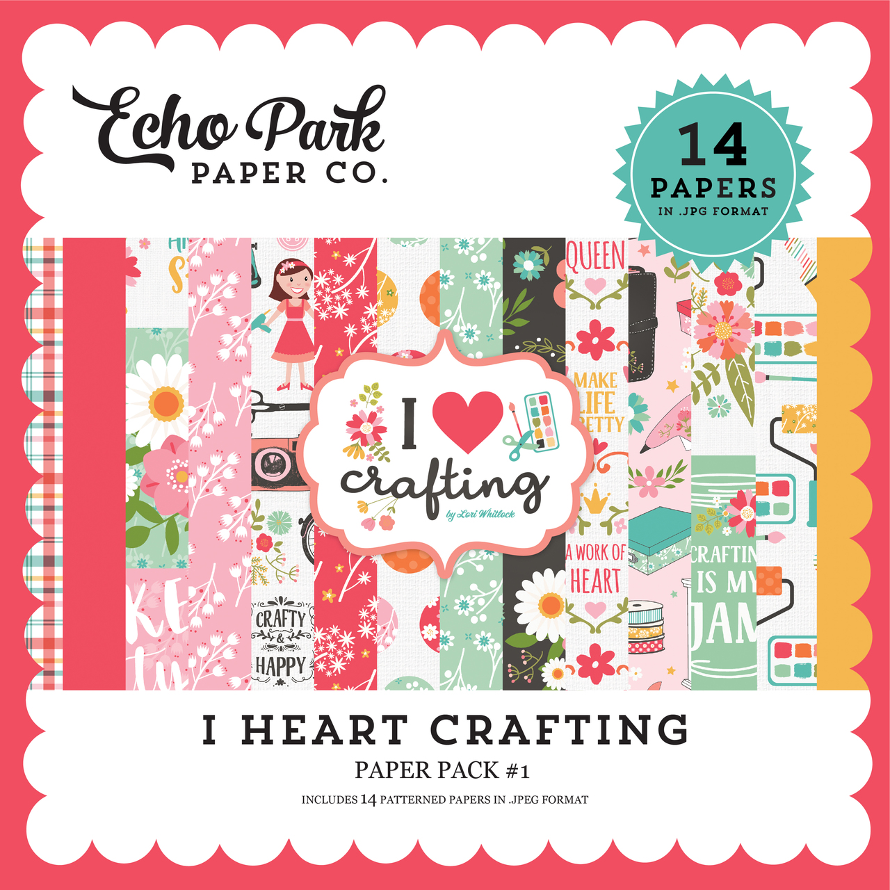 I Heart Crafting Paper Pack #1
