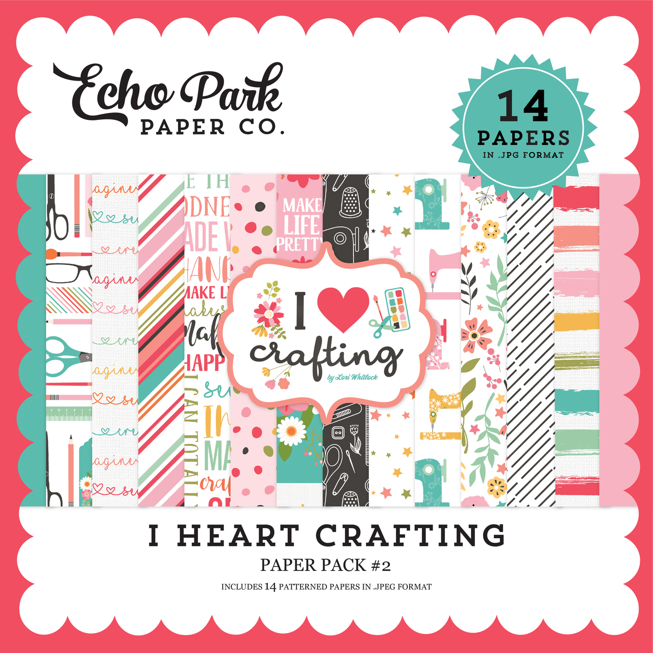 I Heart Crafting Paper Pack #2