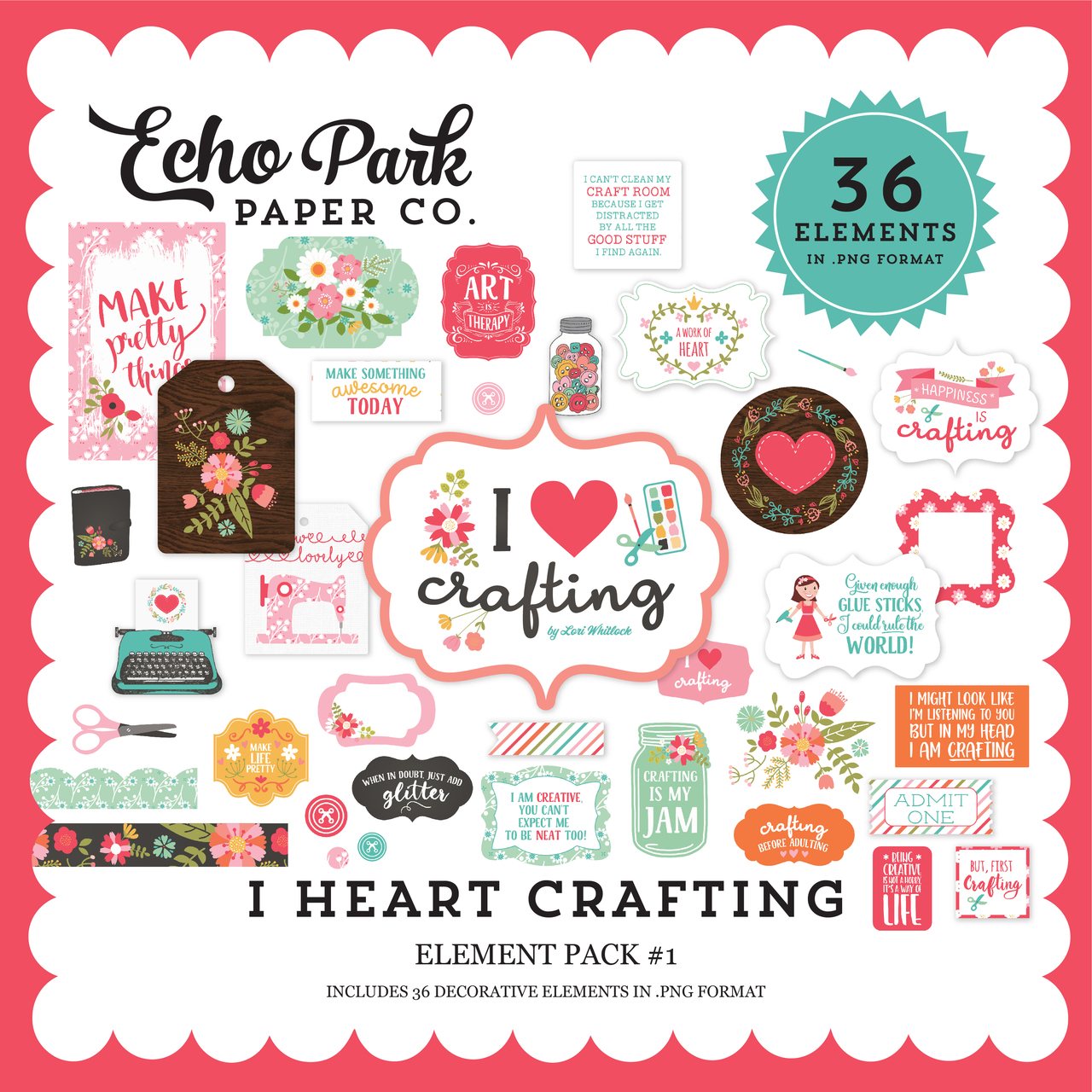 I Heart Crafting Element Pack #1