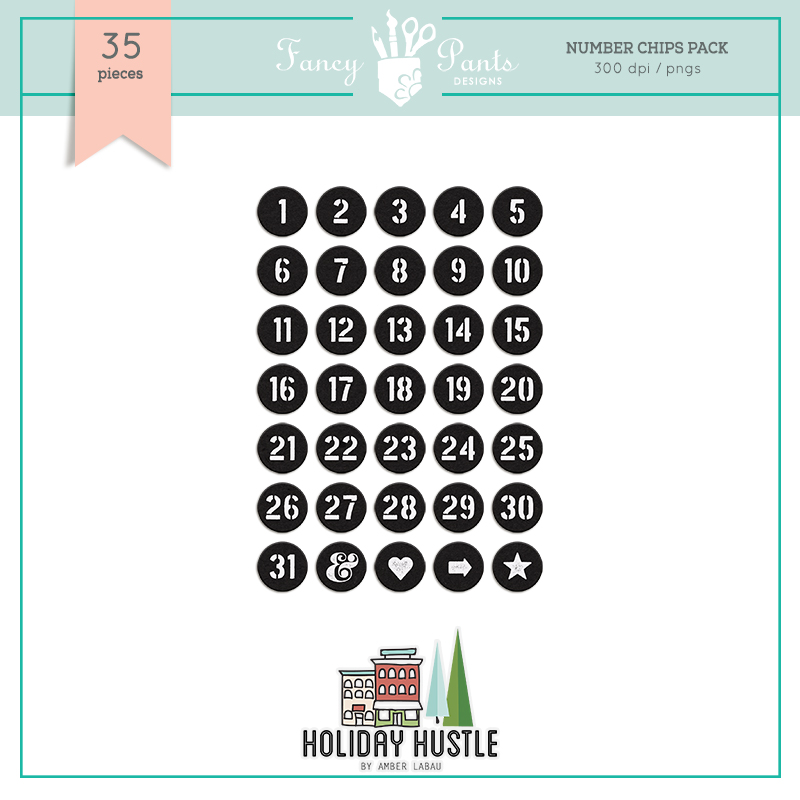 Holiday Hustle  Countdown Numbers