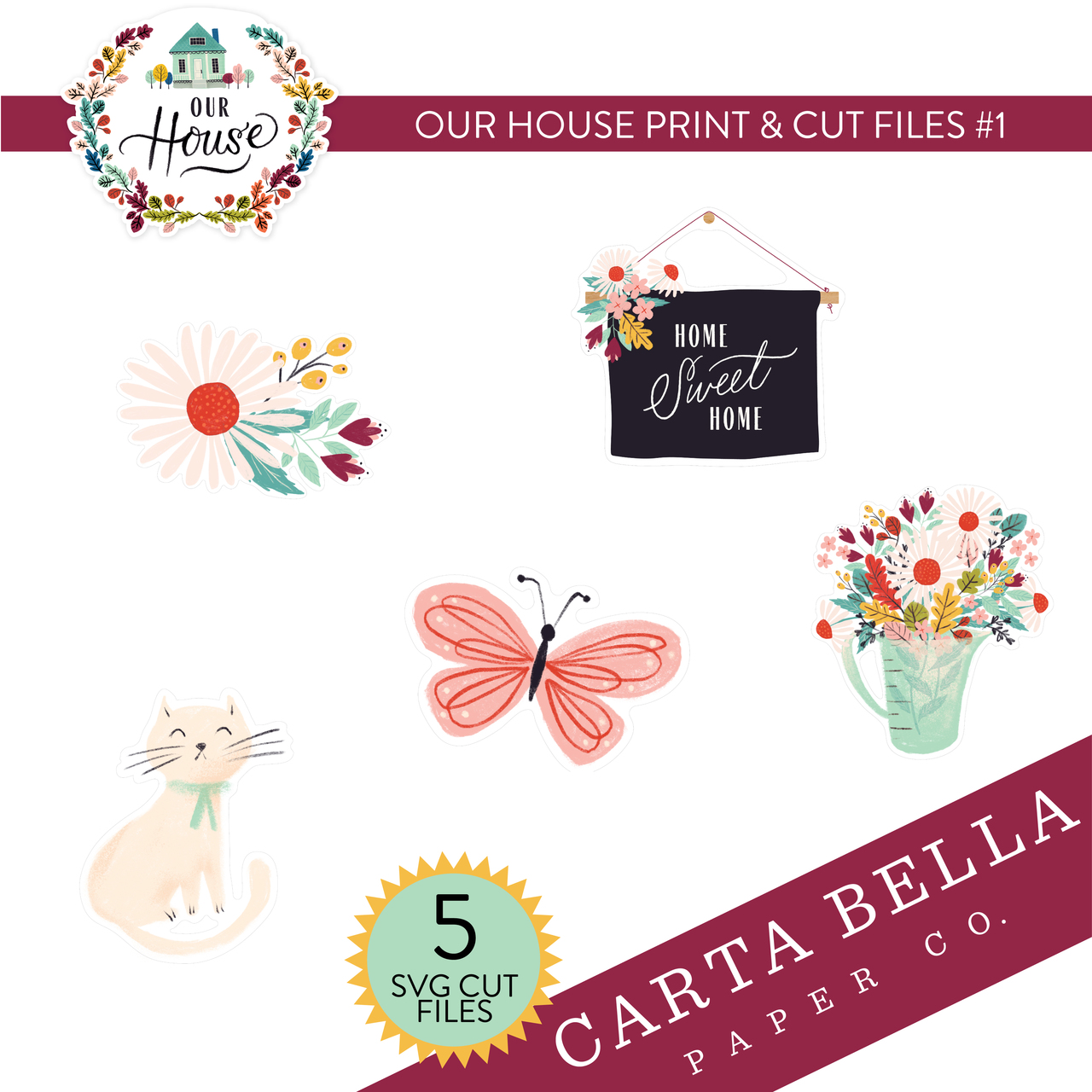 Our House Print & Cut Files #1
