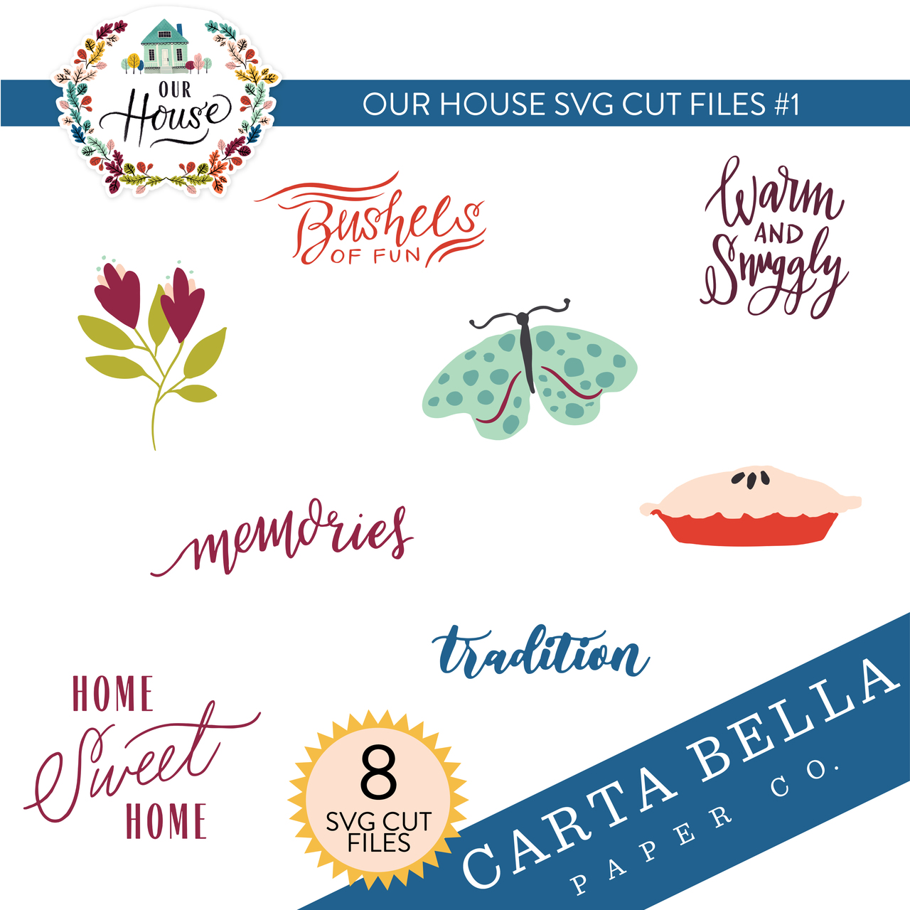 Our House SVG Cut Files #1