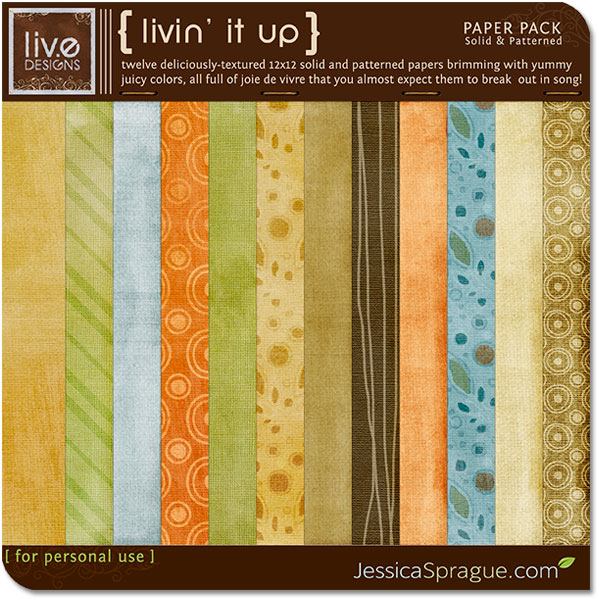 liv.edesigns Livin' It Up Paper Pack is perfect for celebrating all your happy moments!