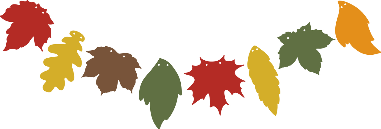 Leaf Banner SVG Cut File