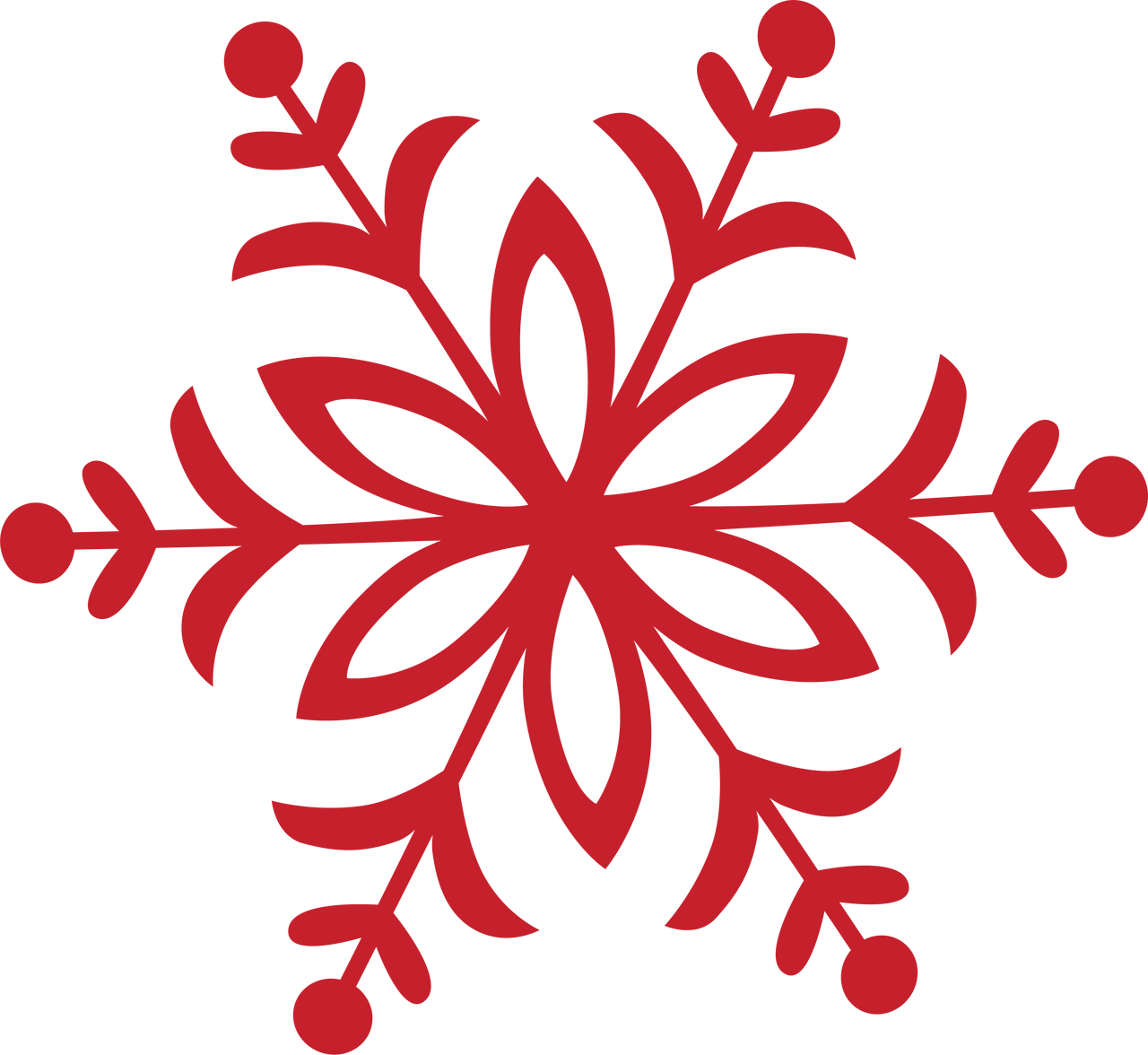 Merry Bright Snowflake 5 Svg Cut File Snap Click Supply Co