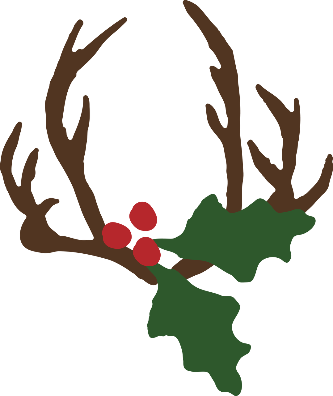 Antlers with Mistletoe SVG Cut File