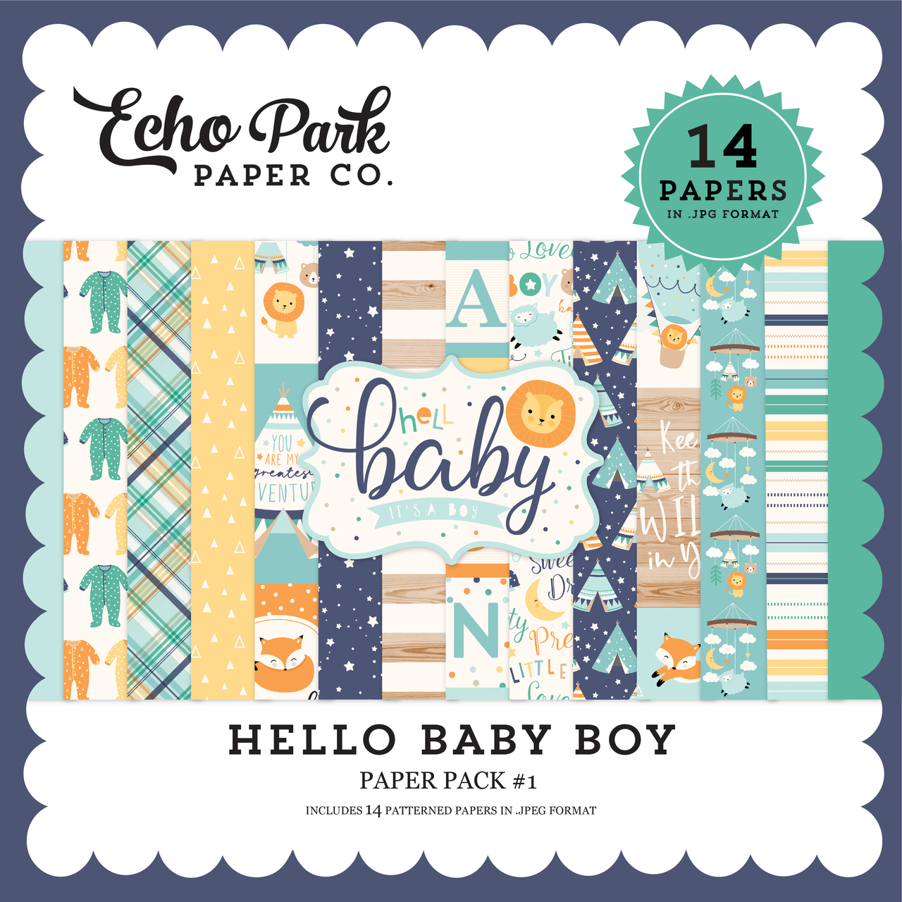 Hello Baby Boy Paper Pack #1