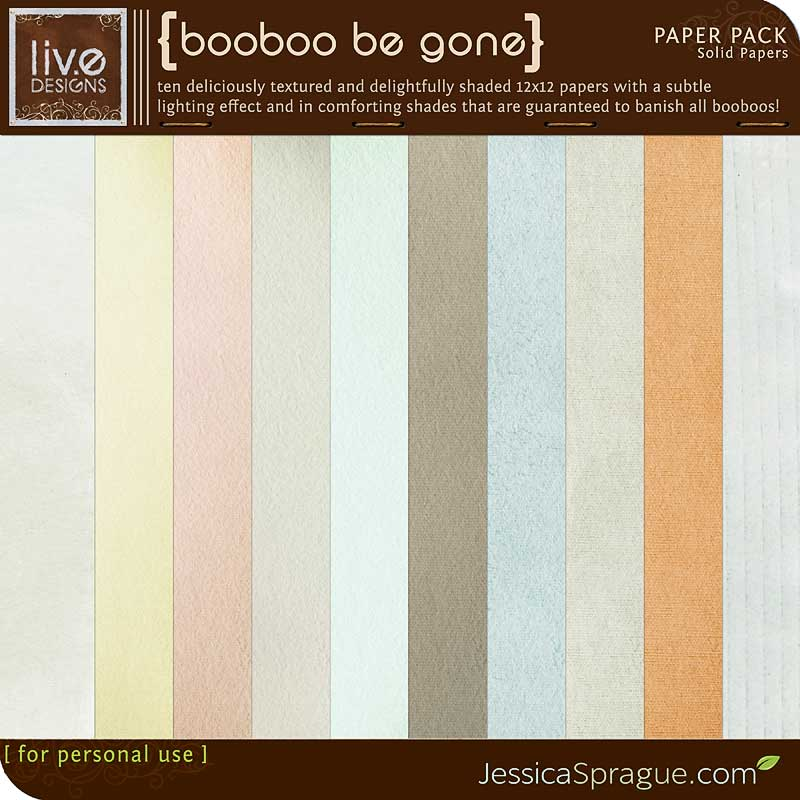 Booboo Be Gone - Solid Papers