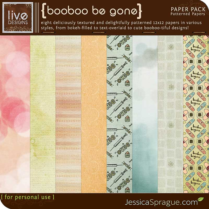 Booboo Be Gone - Patterned Papers