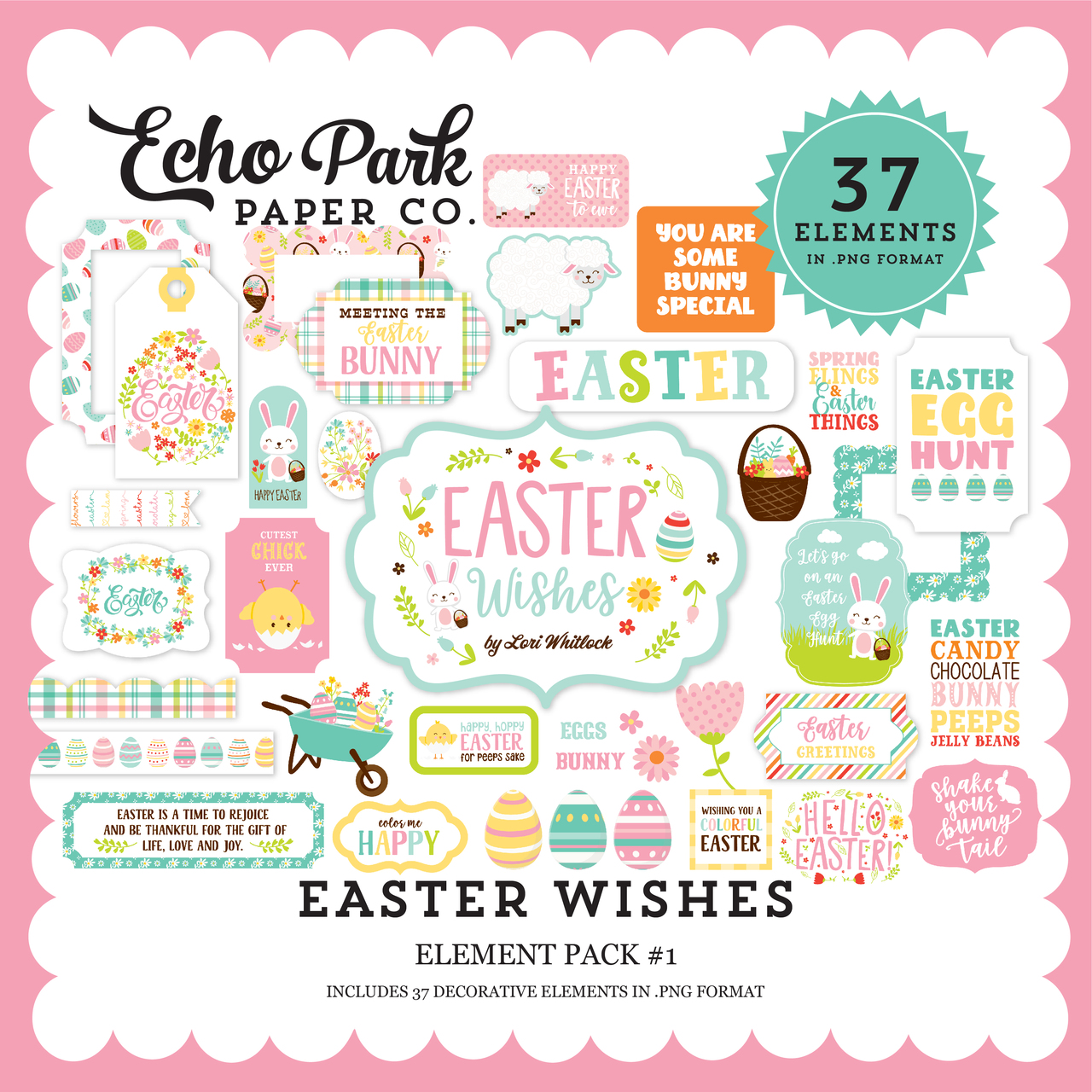 Easter Wishes Element Pack #1