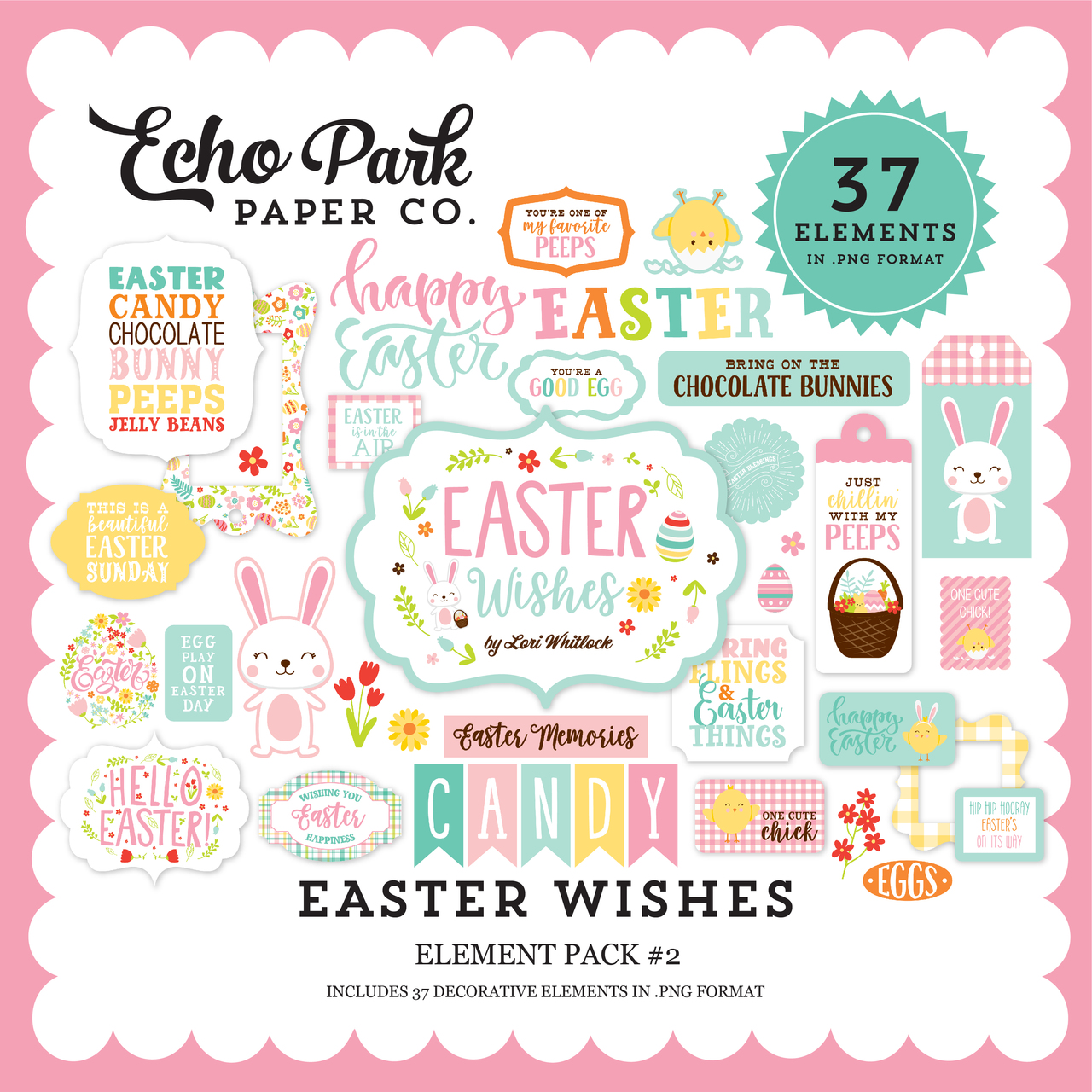 Easter Wishes Element Pack #2
