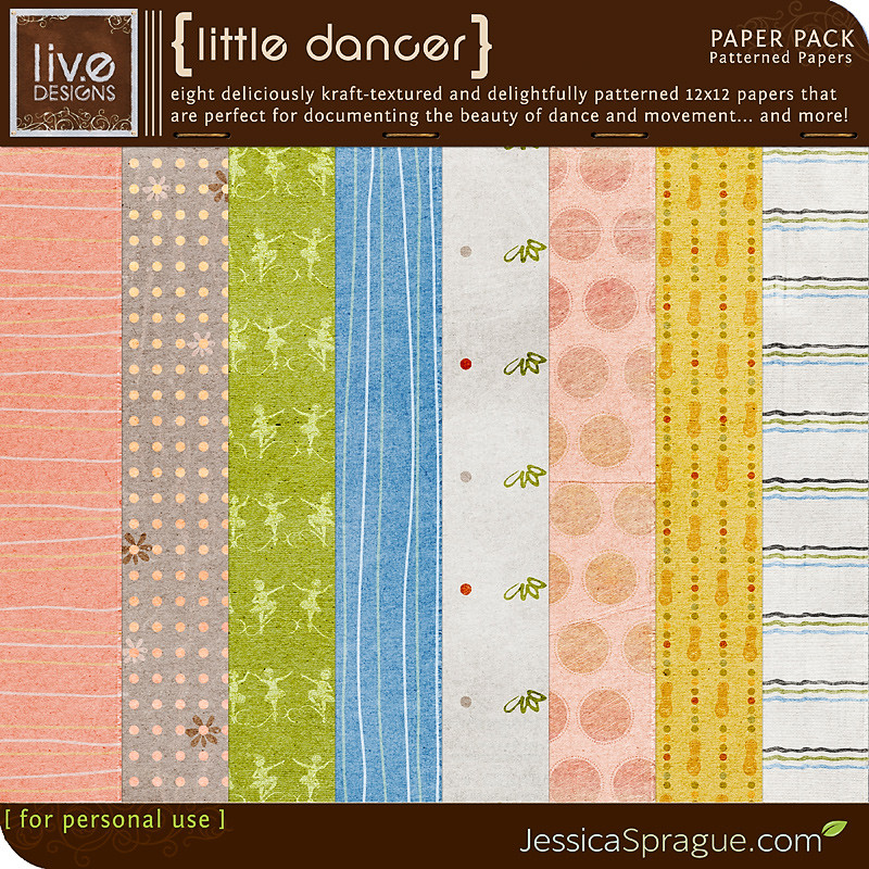 Little Dancer - Patterned Papers