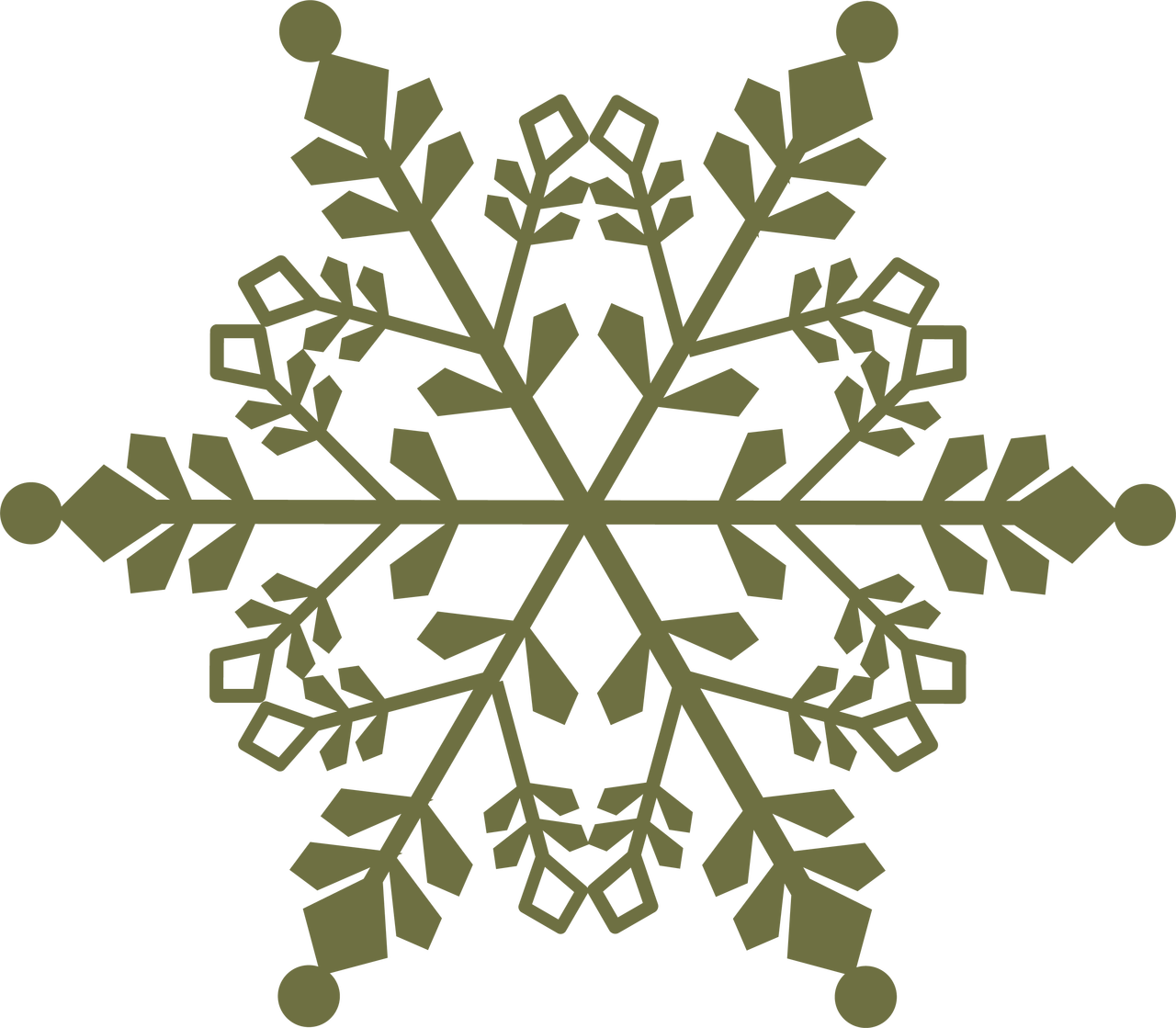 Oh Holy Night Snowflake SVG Cut File
