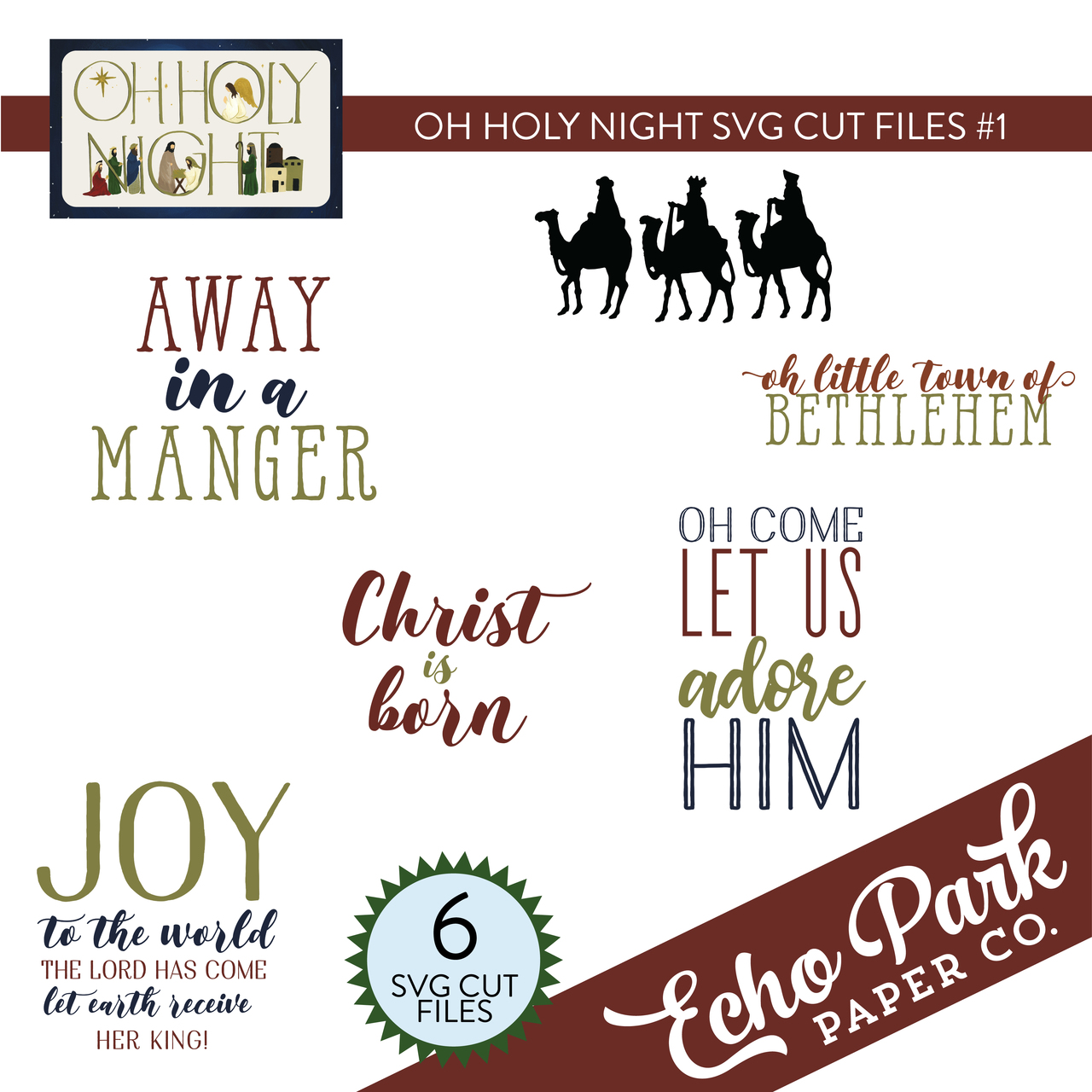 Oh Holy Night SVG Cut File #1