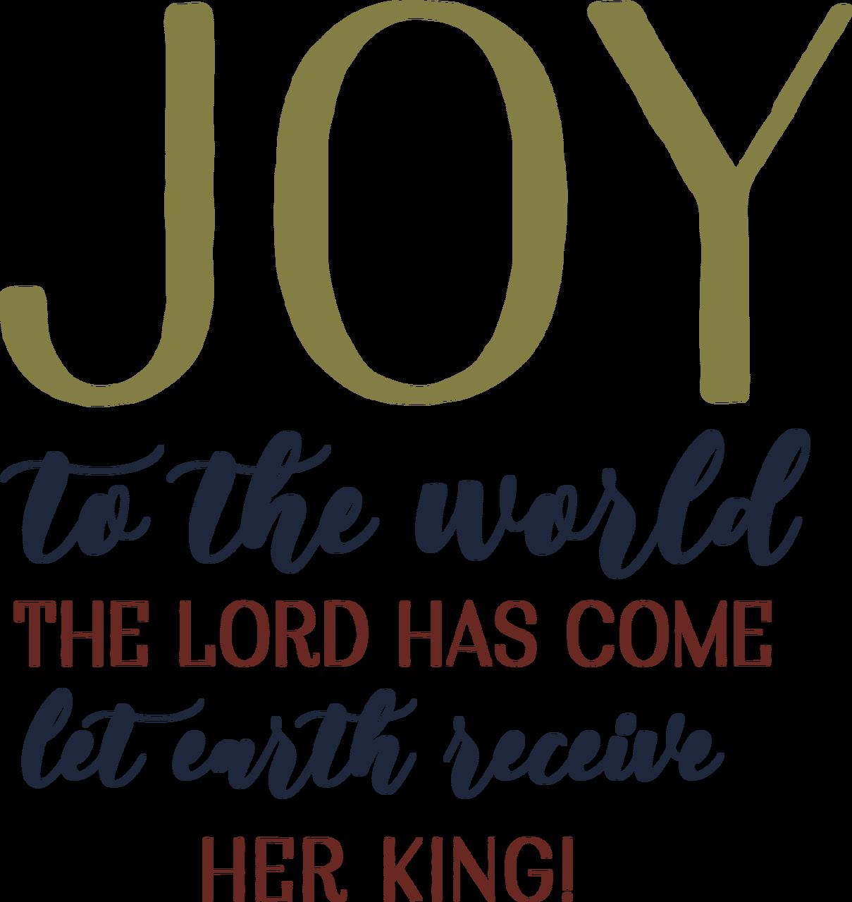 Joy To The World Lyrics SVG Cut File