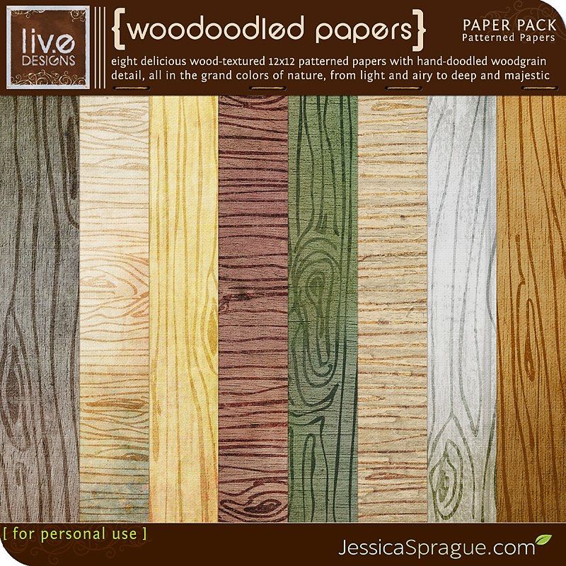 Woodoodled Paper Pack