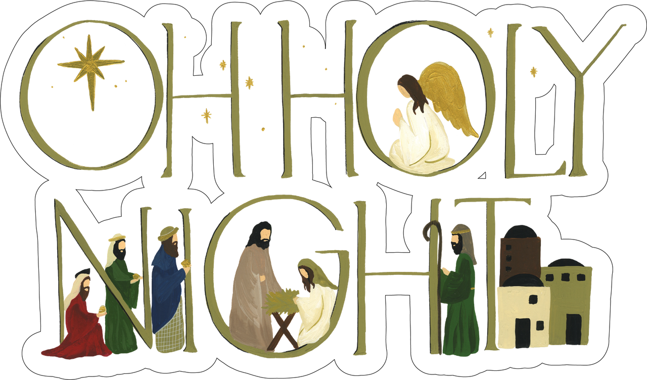 Oh Holy Night Print & Cut File