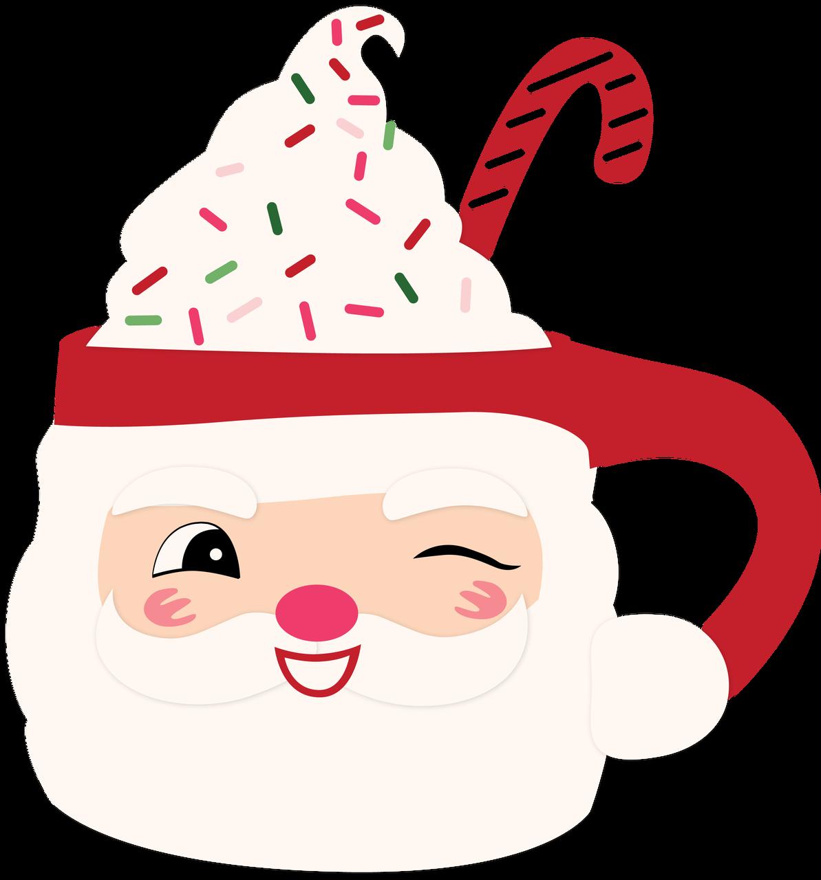 Santa Mug SVG Cut File
