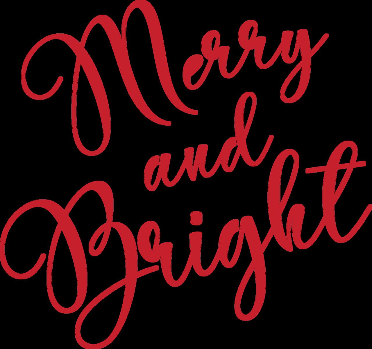 Merry & Bright #2 SVG Cut File