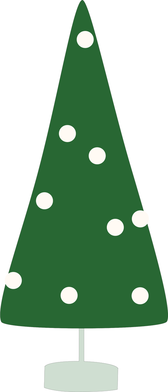 Merry & Bright Christmas Tree SVG Cut File