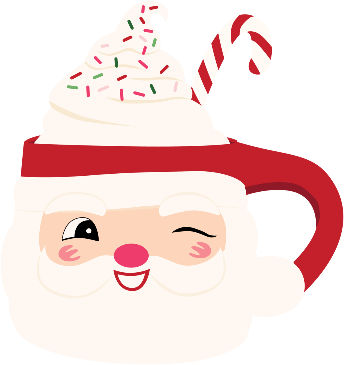 Santa's Mug Print & Cut File