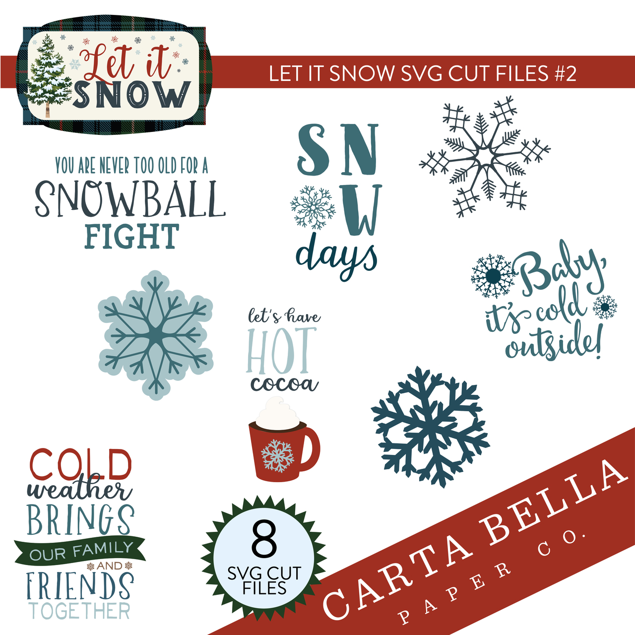 Let It Snow SVG Cut Files #2