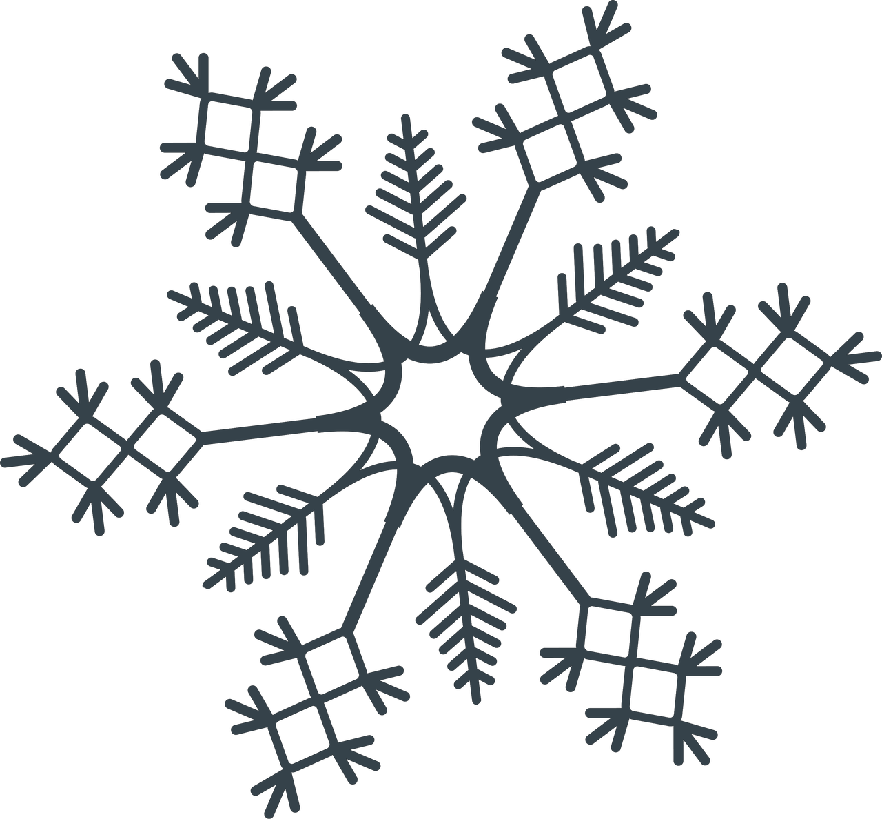 Let It Snow Snowflake #3 SVG Cut File