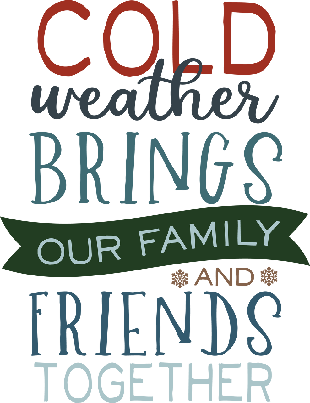 Cold Weather SVG Cut File