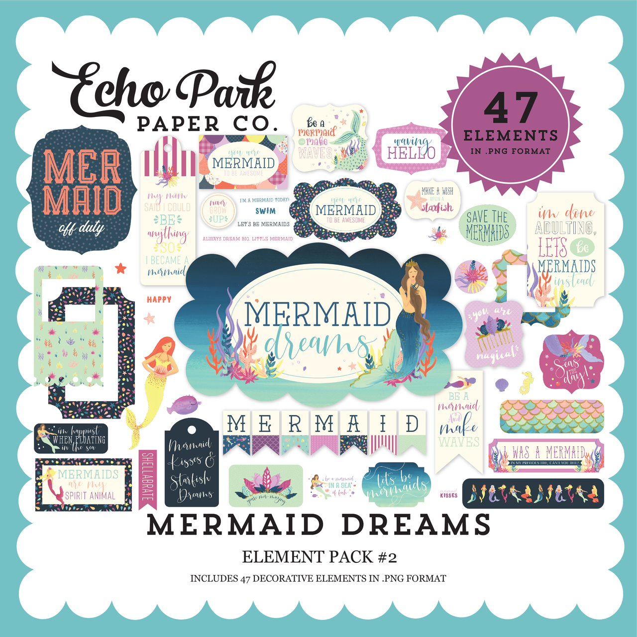 Mermaid Dreams Element Pack #2