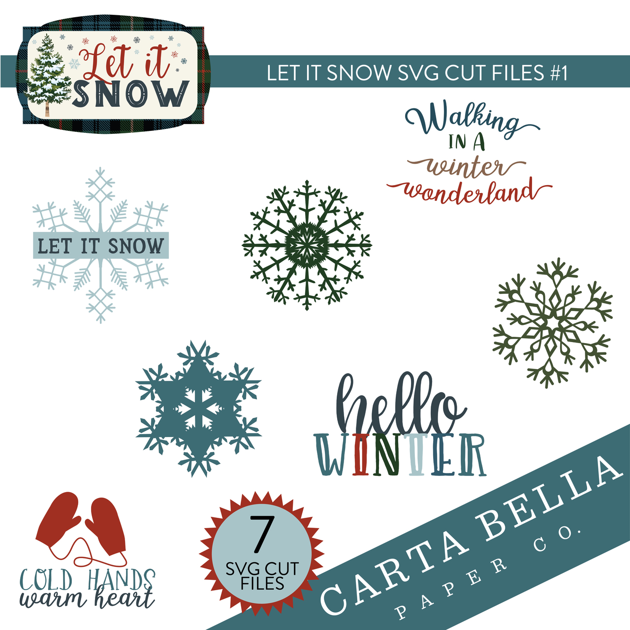 Let It Snow SVG Cut Files #1