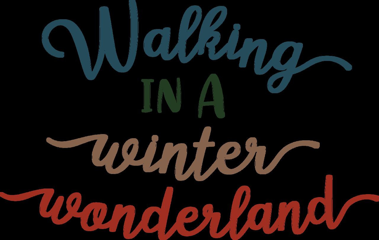 Walking In A Winter Wonderland SVG Cut File
