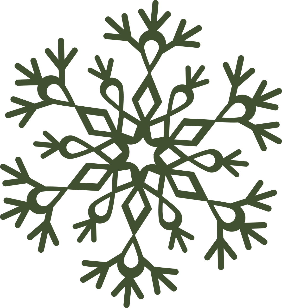 Let It Snow Snowflake #4 SVG Cut File