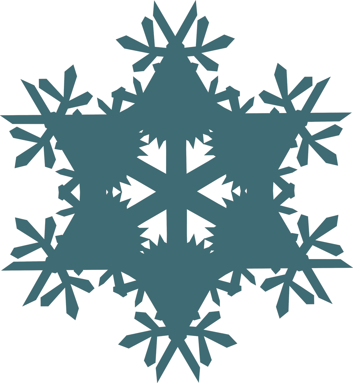 Let It Snow Snowflake #5 SVG Cut File