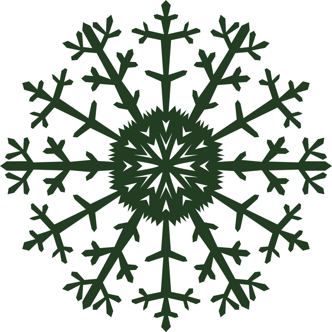 Let It Snow Snowflake #6 SVG Cut File