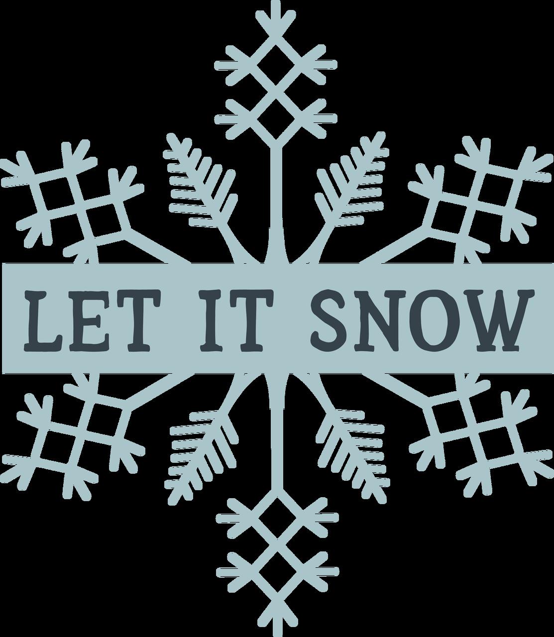 Let It Snow on Snowflake SVG Cut File