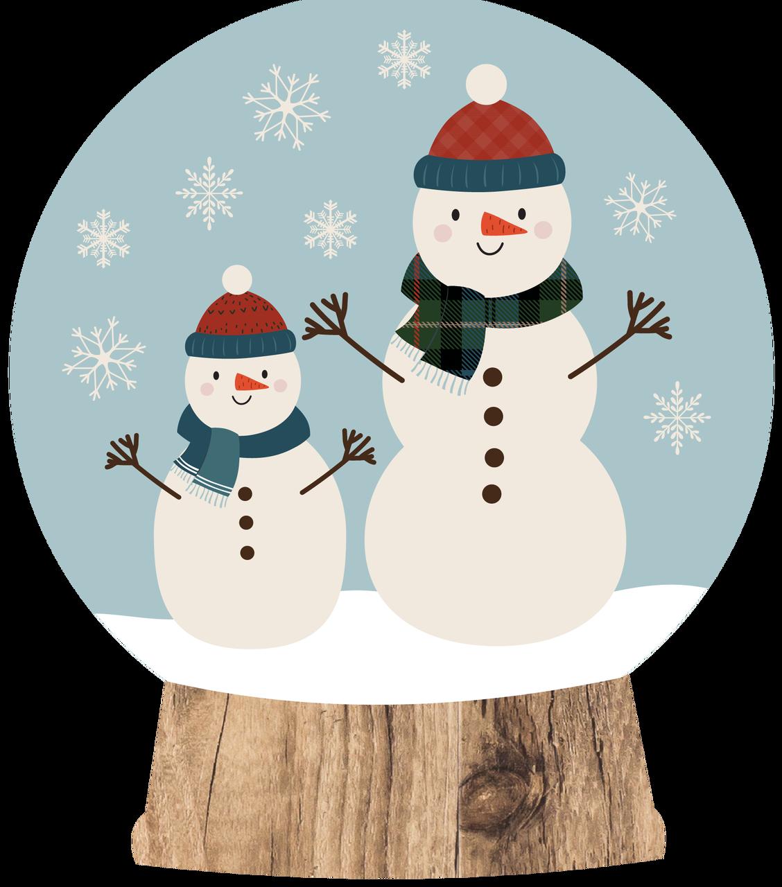 Snow Globe Print & Cut File