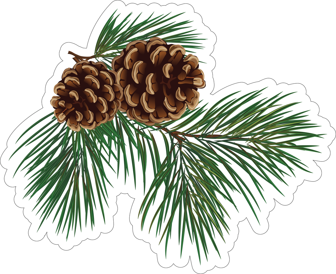 Pine Print & Cut File