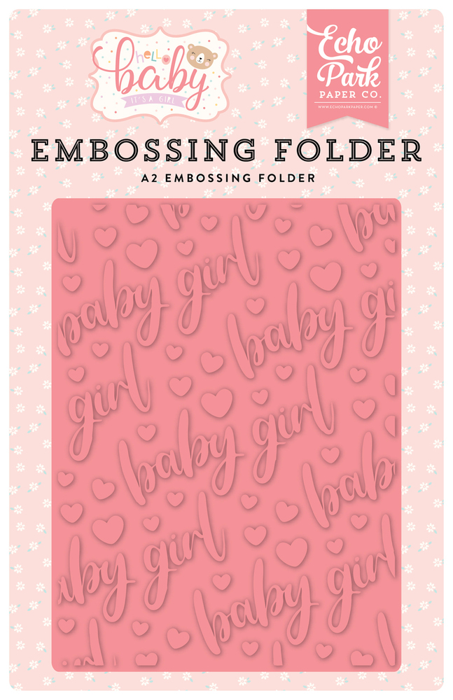 Hello Baby Girl Embossing Folder
